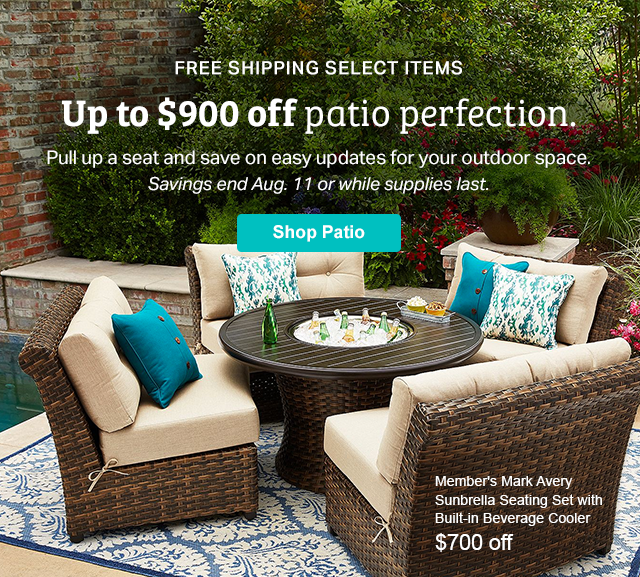 Outstanding Sams Club Hot Up To 900 Off Patio Furniture Milled Download Free Architecture Designs Sospemadebymaigaardcom