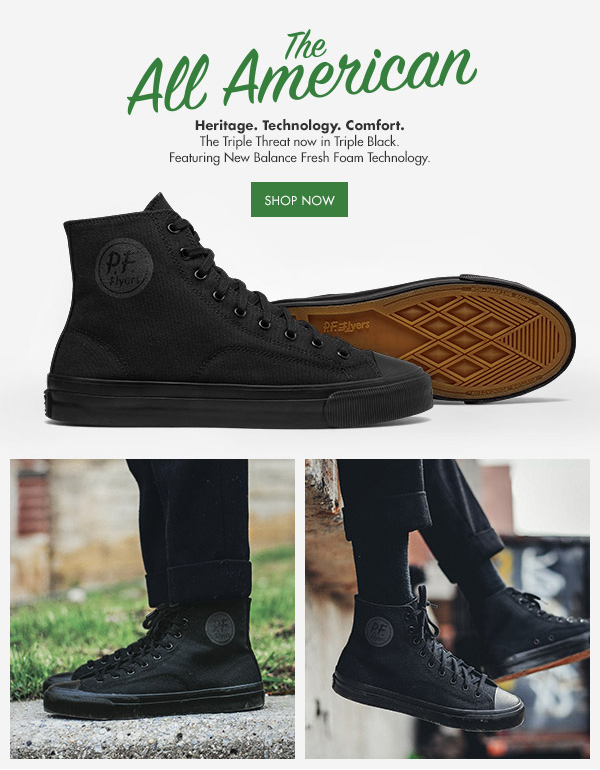 PF Flyers: TRIPLE BLACK   The New All