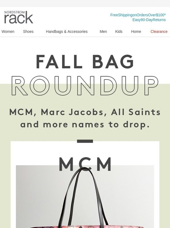 d577efc391 Nordstrom Rack  Fall bags! Up to 50% off MCM   All Saints