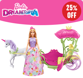 Barbie Dreamtopia Sweetville Carriage and Doll
