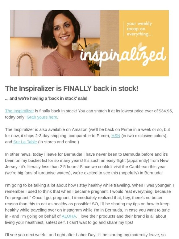 6a4d5884753da Inspiralized: BEST NEWS EVER: The Inspiralizer is back in stock! 🎉 | Milled