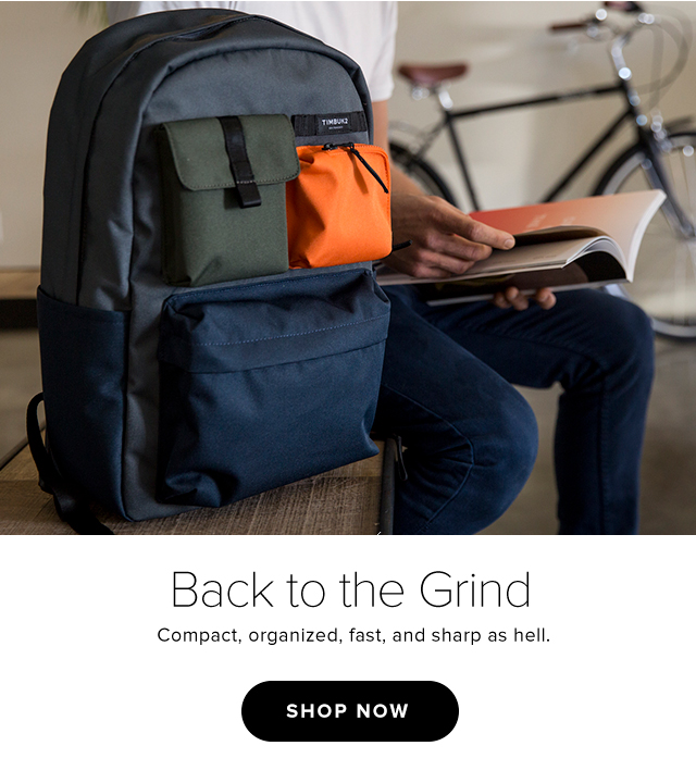 Back to the grind - Compact, organized, fast, and sharp as hell. - Shop Now
