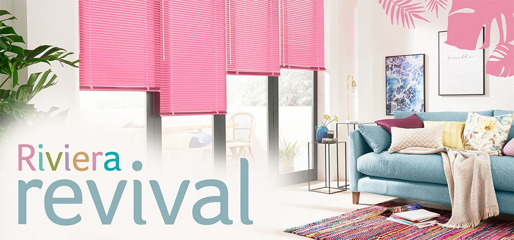 Hillarys Blinds: Riviera Revival | Vibrant blinds and shutters | Milled