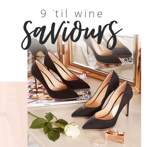 9 'Til Wine Saviours - Lipsy Mid Heel Courts
