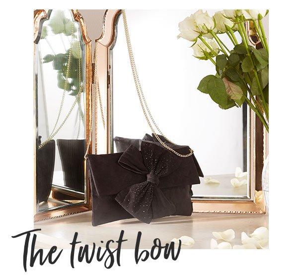 Lipsy Twist Bow Clutch Bag