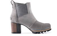 A lo-cut boot with block heel.