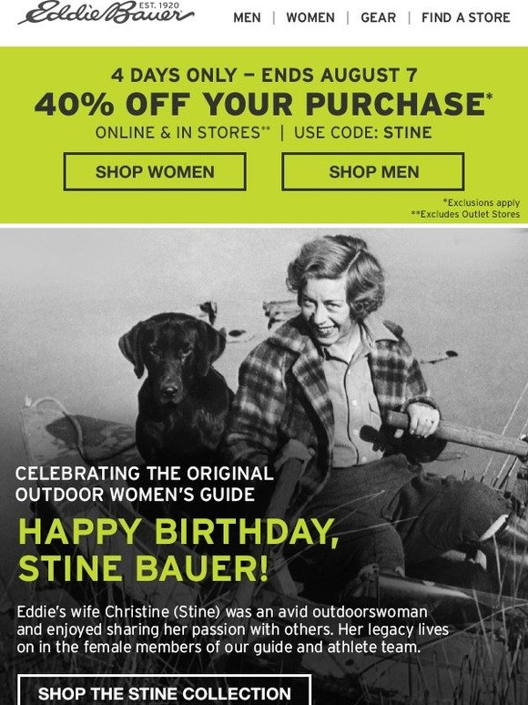 Eddie Bauer 4 Days Only 40 Off Milled