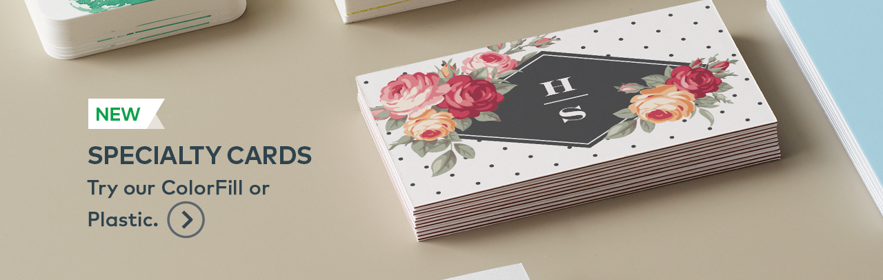 Vistaprint: NEW shapes, stocks and more | 50% off any business card ...