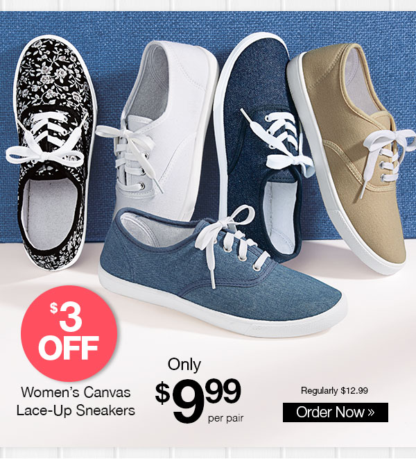 American Sweetheart Canvas Lace-Up Sneakers