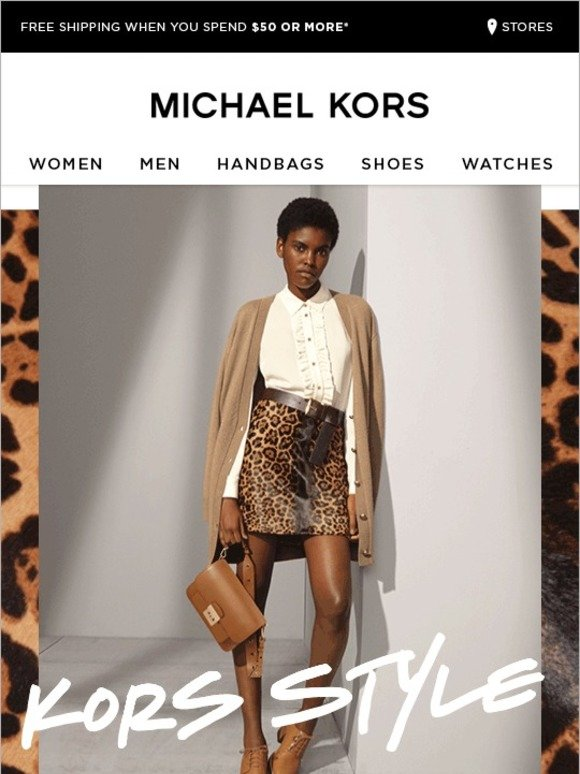 Michael Kors Kors Style Effortless Cool Starts Here Milled