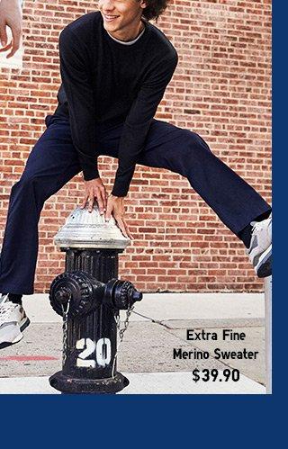 Men's Extra Fine Merino Sweater $39.90 - SHOP NOW