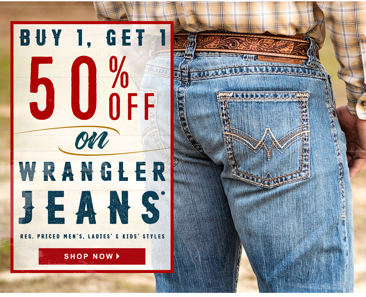 6638359a Cavender's : Buy One, Get One Half Off Wrangler Jeans | Milled