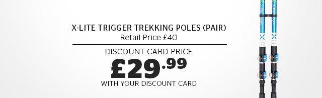 OEX X-Lite Trigger Trekking Poles (Pair)