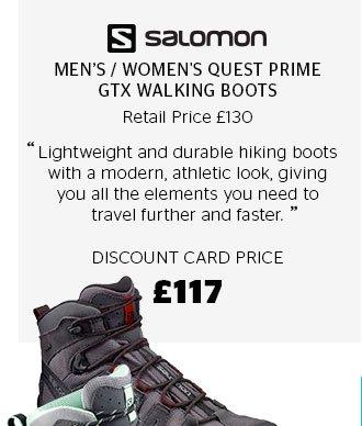 Salomon Men's / Women's Quest Prime GTX Walking Boots