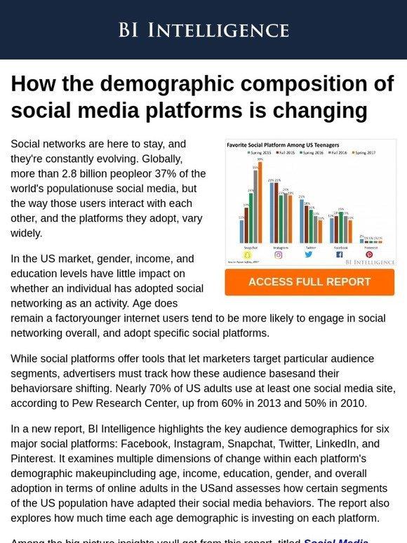 the social media demographics report pdf