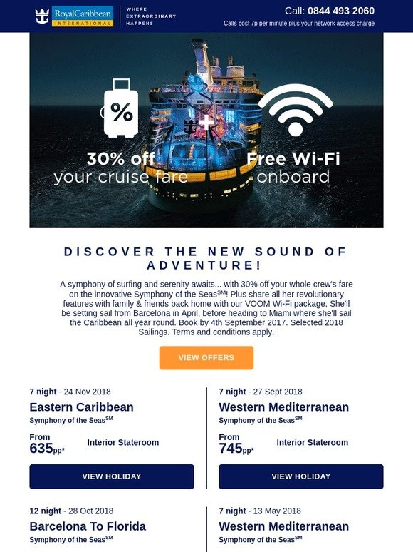 Royal Caribbean: -come onboard Symphony of the Seas(SM) for