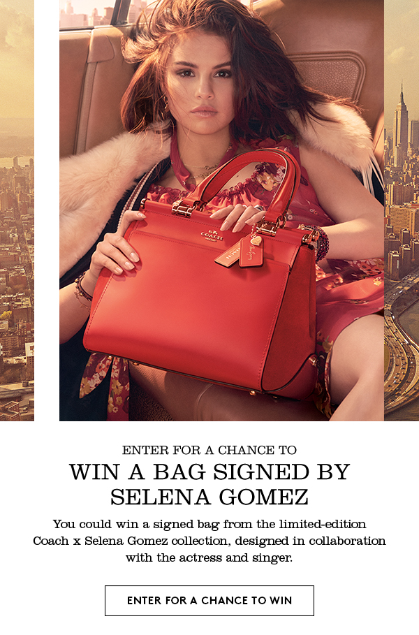 50776a29 Coach: Want To Win A Bag Signed By Selena Gomez? | Milled