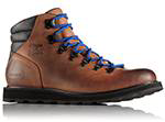 A brown and black Madson boot.