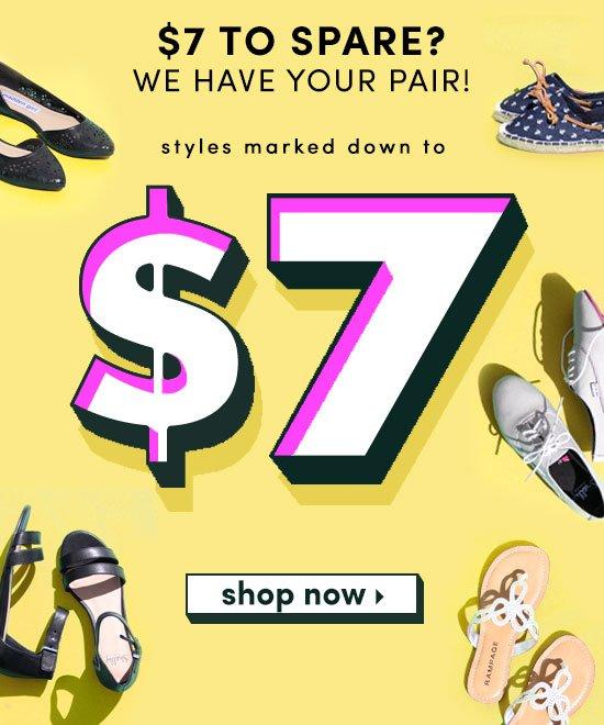 Shoe Metro: \u003e\u003eEverything $7 Sale