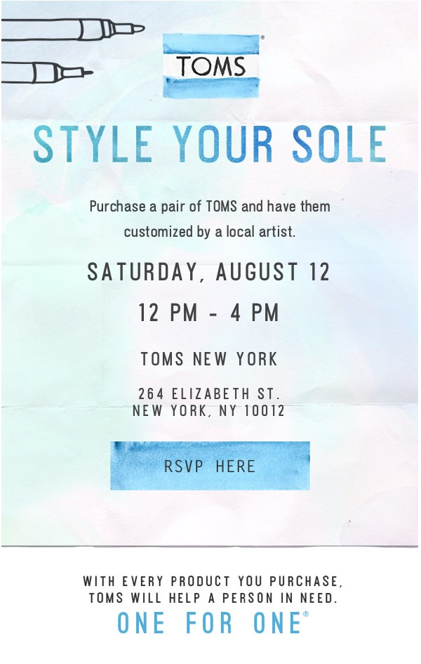 Style your sole event