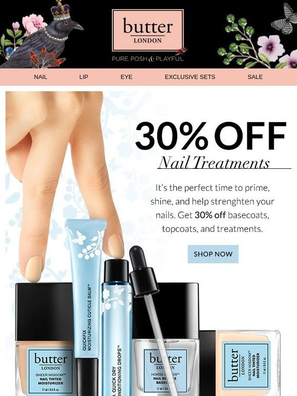 Butter London: 30% Off Nail Treatments | Milled