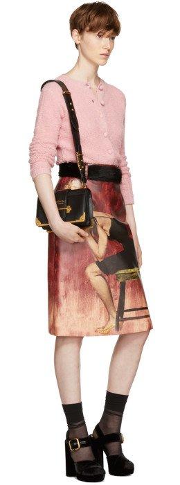 Prada - Pink Alpaca Boucle Cardigan