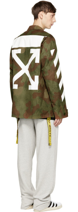 Off-White - Greenmouflage Diagonal Field Jacket