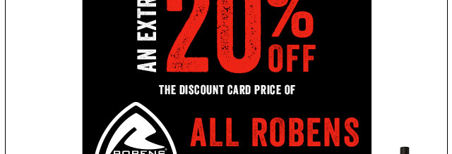 An Extra 20% Off All Robens