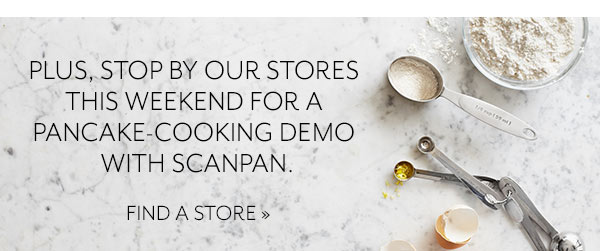 Pancake Demo in stores this weekend