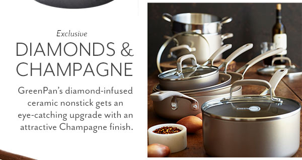 New GreenPan Champagne Cookware