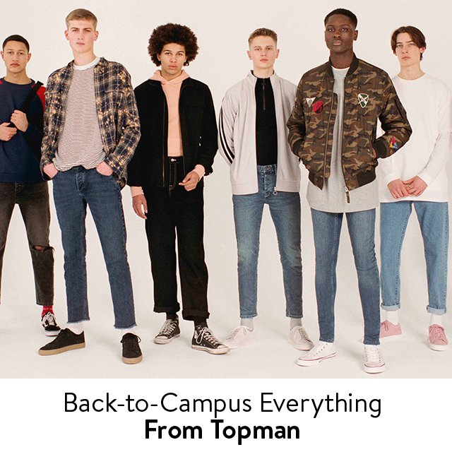 Back-to-Campus Everything From Topman