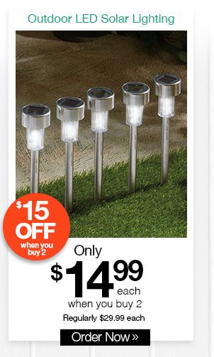 Sharper Image Outdoor LED Solar Lighting
