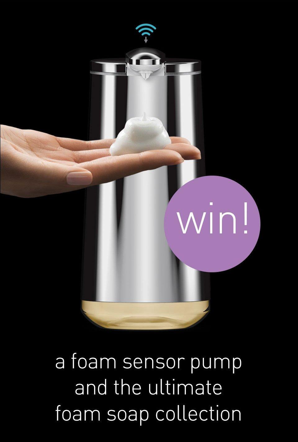 win a foam cartridge sensor pump and the ultimate foam soap collection