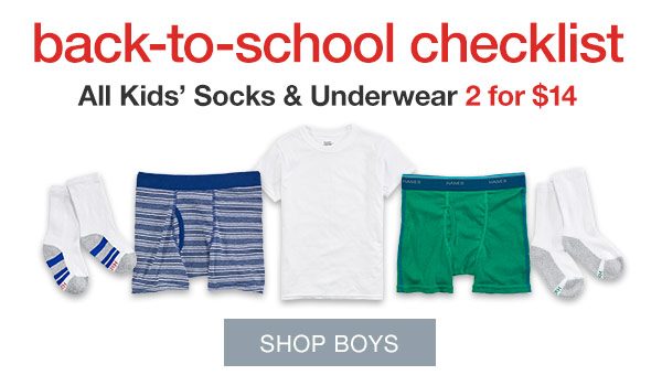 Boys' Underwear Two-fer Deals