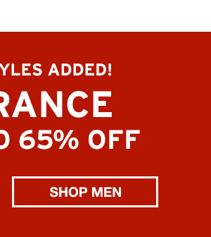 NOW UP TO 65% OFF CLEARANCE | SHOP MEN