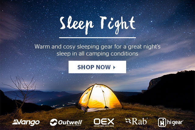 Sleep tight... warm and cosy sleeping gear for a great nights sleep in all camping conditions