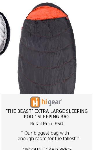 """Hi Gear """"The Beast"""" Extra Large Sleeping Pod™ Sleeping Bag"""