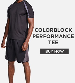 Colorblock Performance Tee