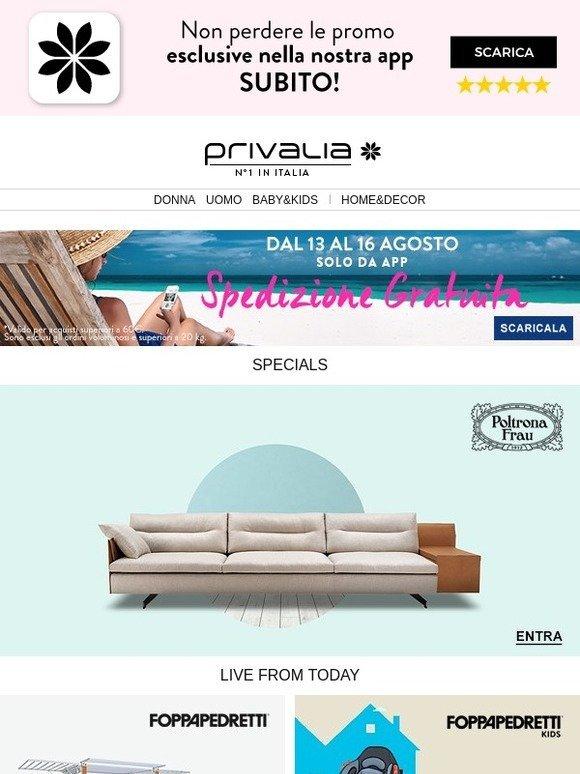 Privalia: Poltrona Frau, Foppapedretti Casa, Primigi, Converse ...