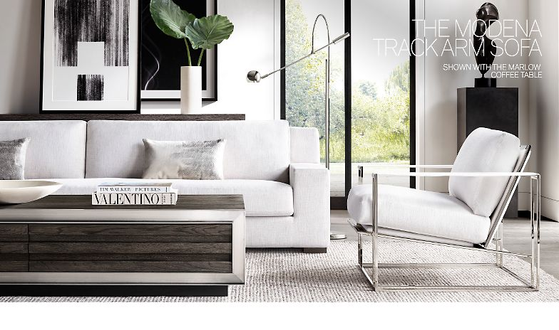 Restoration Hardware The Modena Track Arm Collection Ready For