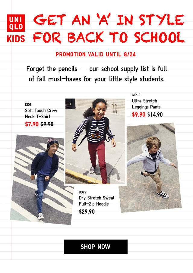 GET AN 'A' IN STYLE FOR BACK TO SCHOOL  - Shop Now