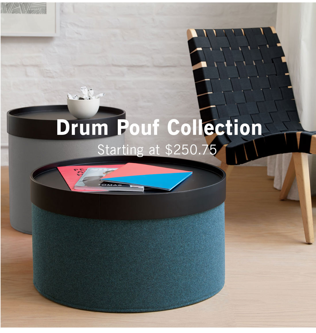 Drum Pouf Collection