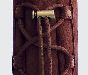 A close up of back laces.