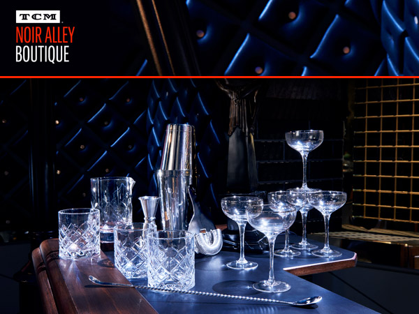 Introducing Classic Barware As Seen On The Noir Alley Set