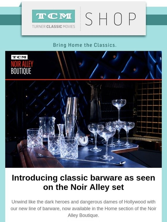 Turner Classic Movies: Pour The Perfect Glass With Gorgeous Noir Style  Barware   Now Available!   Milled