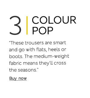 """These trousers are smart and go with flats, heels or boots. The medium-weight fabric means they'll cross the seasons."""