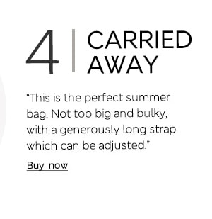 """This is the perfect summer bag. Not too big and bulky, with a generously long strap which can be adjusted."""