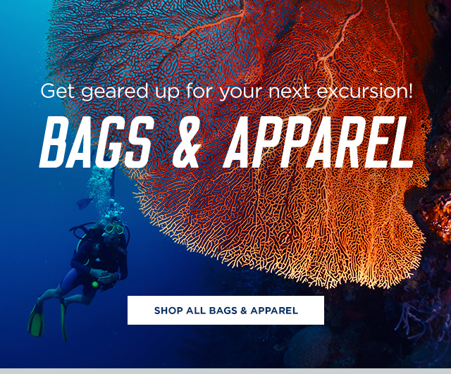 Get geared up with bags & apparel
