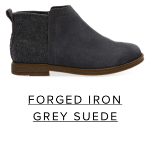 Forged Iron Grey Suede Wool Youth Deia Booties