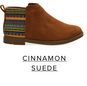 Cinnamon Suede Youth Deia Booties